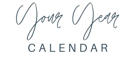 Your Year Calendar
